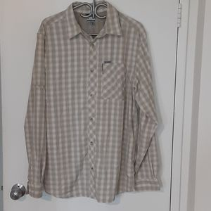 Columbia Titanium XL Plaid Omni Dry Shirt